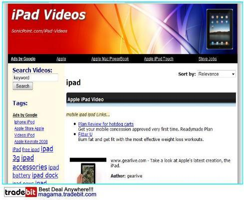 Pay for iPad Video Site Adsense ClickBank Amazon MRR!