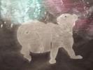Thumbnail Polar Bear with Aurora Borealis sunprint