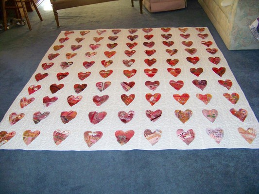 Pay for Crazy Heart Quilt silk