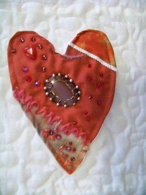 Pay for Detail Crazy Heart Quilt