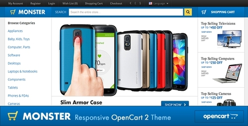 Pay for Monster Responsive OpenCart Theme