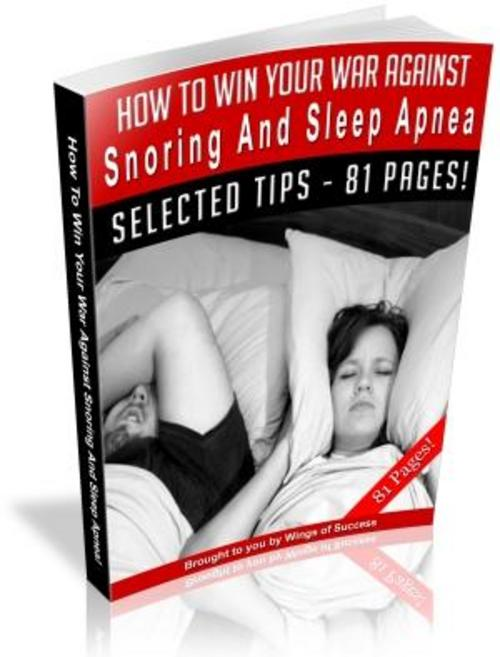 Pay for How To Stop Snoring eBook - #1 BestSeller