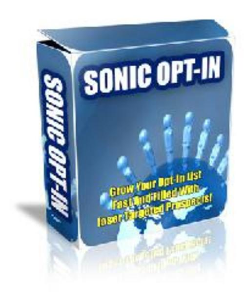 Pay for *New* For 2017 - Sonic Opt-In Software
