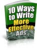 Thumbnail 10 Ways to Write More Affective Ads Ebook PLR