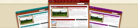 Thumbnail Download Wooden WordPress Theme