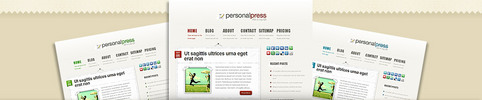 Thumbnail Download PersonalPress WordPress Theme