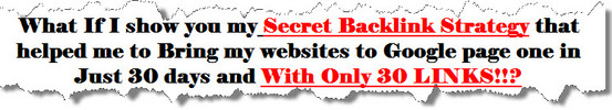 Thumbnail Page One On Google In 30 Days With only 30 links