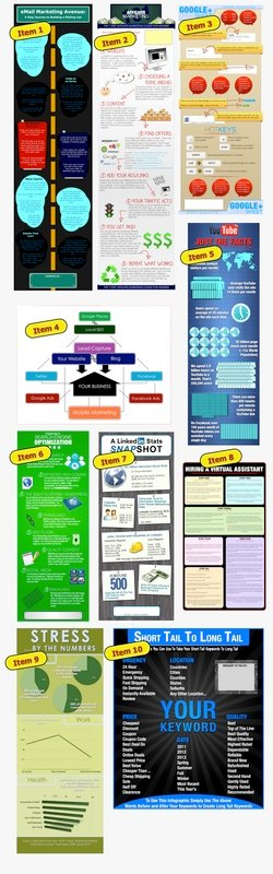 Pay for 10 KILLER Infographics - Dirt Cheap - Brand Them Yourself With PLR