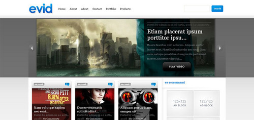 Pay for Download eVid Video WordPress Theme
