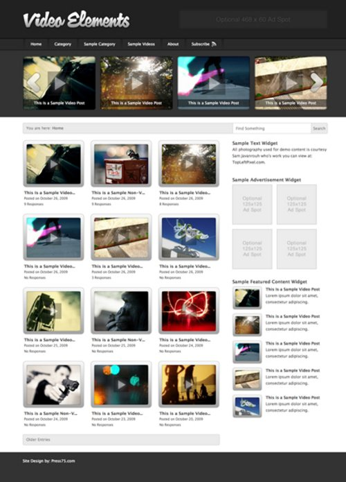 Pay for Video-elements WP Premium Theme Download