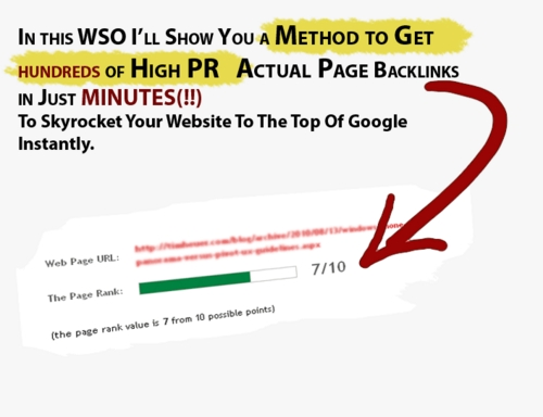 Pay for Get unlimited PR-7 actual page dofollow backlinks