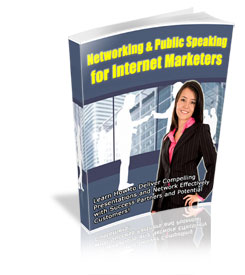 Pay for Networking & Public Speaking for Internet Marketers