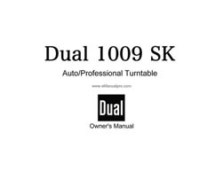 Thumbnail DUAL 1009SK TURNTABLE OWNERS MANUAL