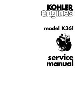 Kohler K on Kohler Engine Service Bulletins