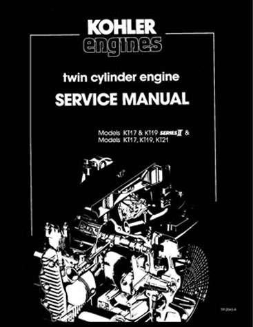 Thumbnail KOHLER ENGINE Models KT17, KT19 Series II & KT17, KT19 & KT21 Series SERVICE MANUAL