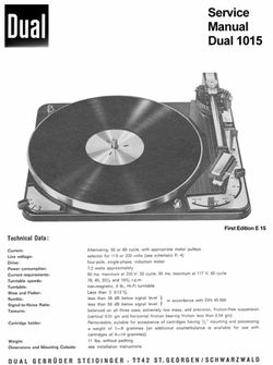 Thumbnail DUAL 1015 TURNTABLE REPAIR MANUAL