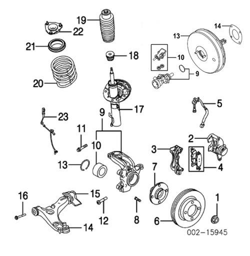 1997 - 2003 audi a8 parts list catalog
