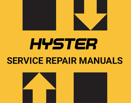 Free Hyster A218 WALKIE W40XT FORKLIFT REPAIR & Parts Manual Download thumbnail