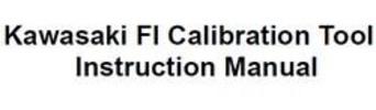 Thumbnail Kawasaki ZX-6R ZX-10R 2011 FI Calibration Tool Instruction