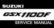 Thumbnail SUZUKI GSX 1100 F 1989 - 1994 SERVICE Workshop MANUAL