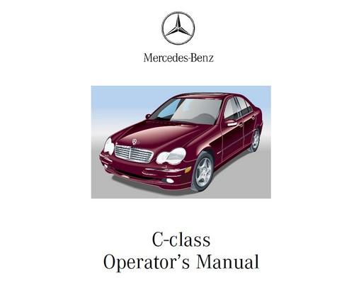 Pay for 2001 Mercedes-Benz C240 - C320 Operator repair Manual