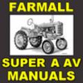Thumbnail IH Farmall Super A & Super AV TRACTOR Service SHOP Repair Workshop MANUAL - DOWNLOAD