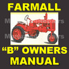 Thumbnail IH FARMALL B Tractor OWNERS Operators Instruction MANUAL - DOWNLOAD