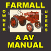Thumbnail IH International FARMALL A & AV Tractor OWNERS Operators MANUAL - DOWNLOAD