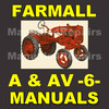 Thumbnail IH FARMALL A & AV Tractor -6- MANUALS Service, Parts, Owner, Attachments, Shop Manual Catalog - DOWNLOAD