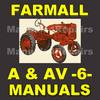 Thumbnail IH FARMALL A & AV Tractor -6- MANUALS Service, Parts, Owner, Attachments, Shop Manual Catalog - DOWNLOAD