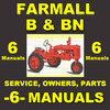 Thumbnail IH FARMALL B & BN -6- MANUALS Service, Parts, Owner, Attachments, Shop Manual Catalog - DOWNLOAD