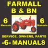Thumbnail IH FARMALL B & BN -6- MANUALS Service, Parts, Owner, Attachments, Shop Manual Catalog - DOWNLOAD