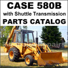Thumbnail Case 580B with Shuttle Transmission Tractor Parts Manual Catalog - DOWNLOAD