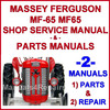 Thumbnail Massey Ferguson MF 65 Tractor Service Manual & Parts Manual -2- Manuals - DOWNLOAD