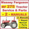 Thumbnail Massey Ferguson MF275 Tractor Service Manual & Parts Manual -2- Manuals - DOWNLOAD