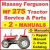 Thumbnail Massey Ferguson MF275 Tractor Service Manual & Parts Manual -2- Manuals - DOWNLOAD