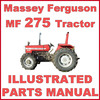 Thumbnail Massey Ferguson MF275 275 Tractor Illustrated Parts Manual Catalog - #1 DOWNLOAD