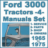 Thumbnail Ford 3000 Tractor SERVICE, PARTS, OWNERS Manual -4- Manuals - IMPROVED - DOWNLOAD