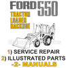 Thumbnail Ford 550 Tractor Service Manual & Illustrated Parts -2- Manuals - DOWNLOAD