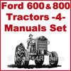 Thumbnail Ford 600 800 Tractor SERVICE, PARTS Catalog, OWNERS Manual -4- Manuals 1953-64 - DOWNLOAD