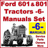 Thumbnail Ford 601 801 Tractor SERVICE, PARTS Catalog, OWNERS Manual -6- Manuals - DOWNLOAD