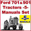 Thumbnail Ford 701 901 Tractor SERVICE, PARTS Catalog, OWNERS Manual -5- Manuals - DOWNLOAD