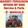 Thumbnail Massey Ferguson MF8200 MF 8210 8220 Tractor SERVICE, PARTS Manual -2- Manuals - DOWNLOAD
