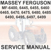 Thumbnail Massey Ferguson MF6400 MF 6400 Series Tractors 6465 6470 6475 6480 6485 6490 6495 6497 Service  Workshop Manual - DOWNLOAD