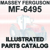 Thumbnail Massey Ferguson MF 6495 MF6495 Tractor Illustrated Parts Manual Catalog - DOWNLOAD
