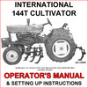 Thumbnail IH International 144T Cultivator Operators Owner Instruction Manual  - DOWNLOAD