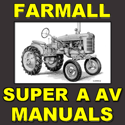 Pay for IH Farmall Super A & Super AV Tractor Parts Catalog TC-39 Manual - DOWNLOAD