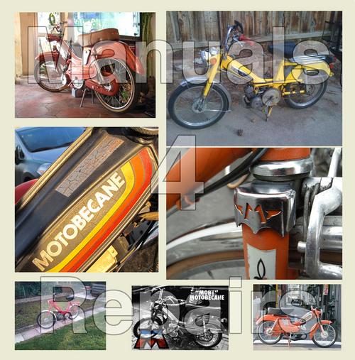 Motobecane Moped Model 40, 50, 50V and 7 SERVICE Repair Workshop MANUAL -  DOWNLOAD *