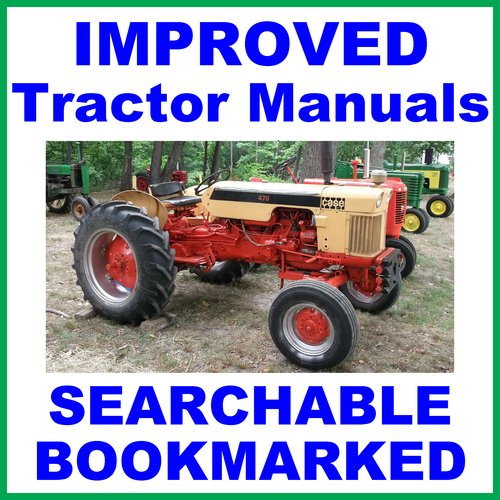 Pay for Case International 470 & 570 TRACTOR Workshop SERVICE Repair SHOP MANUAL - IMPROVED - DOWNLOAD