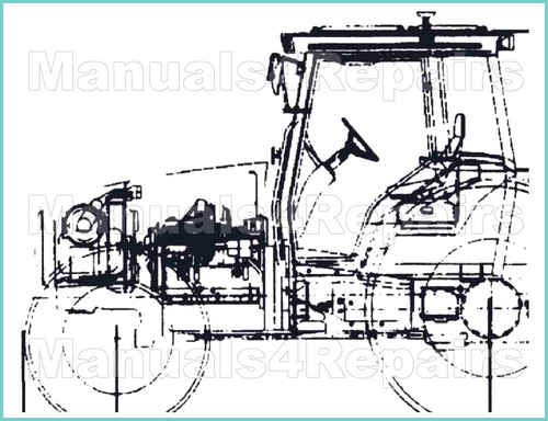 ji case 400b 410b 411b tractors workshop service shop